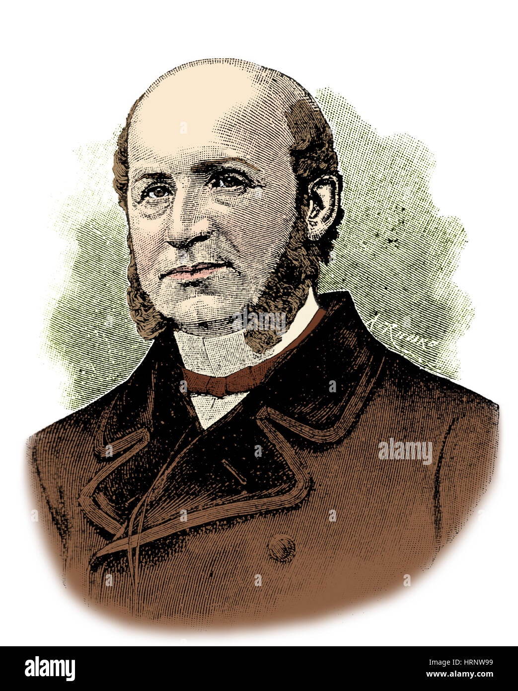 G.B.A. Duchenne, French Neurologist - Stock Image