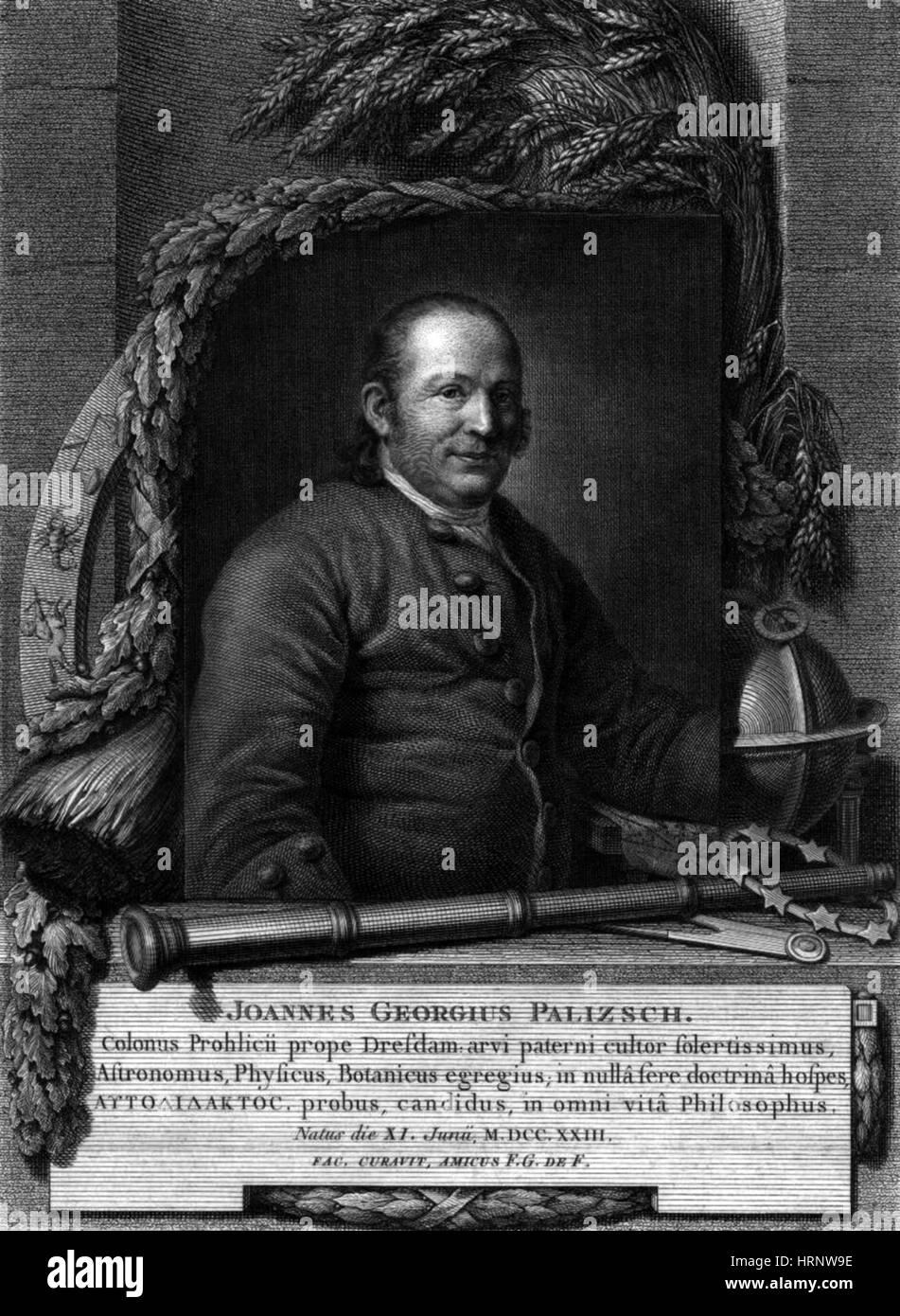 Johann Georg Palitzsch, German Astronomer - Stock Image