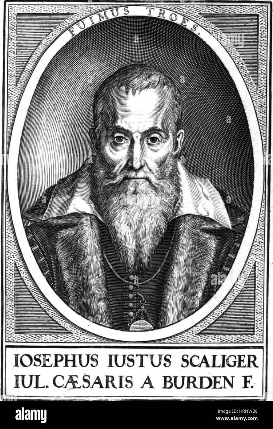 Josephus Justus Scaliger, French Scholar - Stock Image