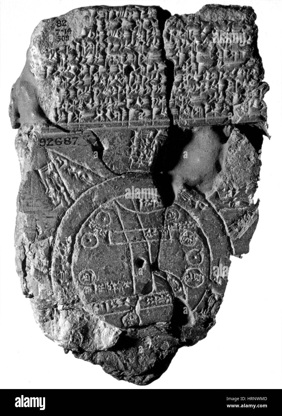 Babylonian World Map, 5th Century BC - Stock Image