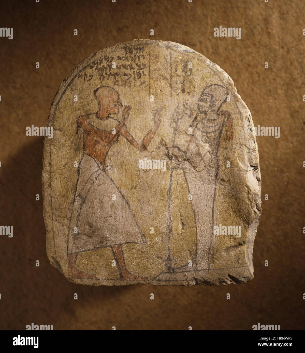 Ptah, Egyptian God, Primal Creator, 1307-1070 BC - Stock Image