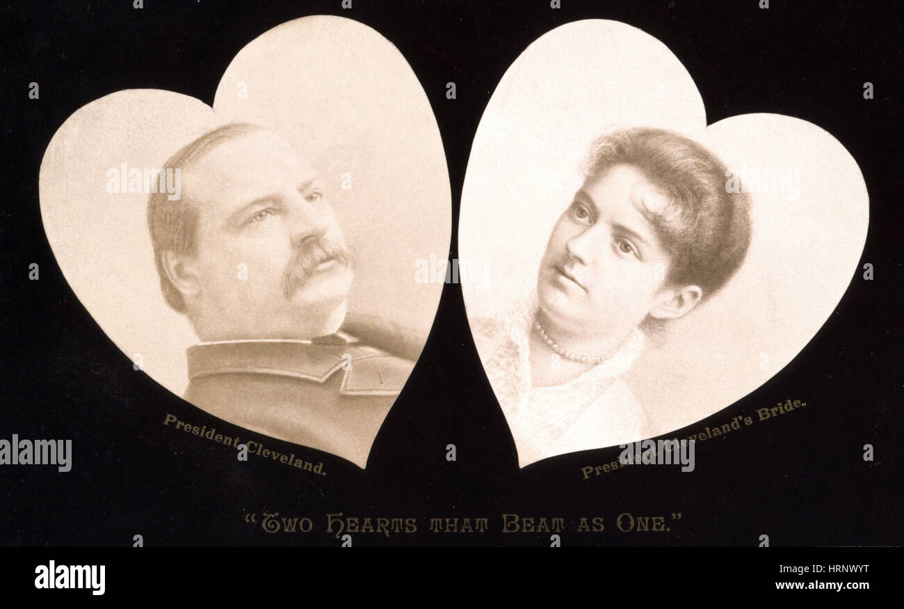 Grover Cleveland and Frances Folsom, 1886 - Stock Image