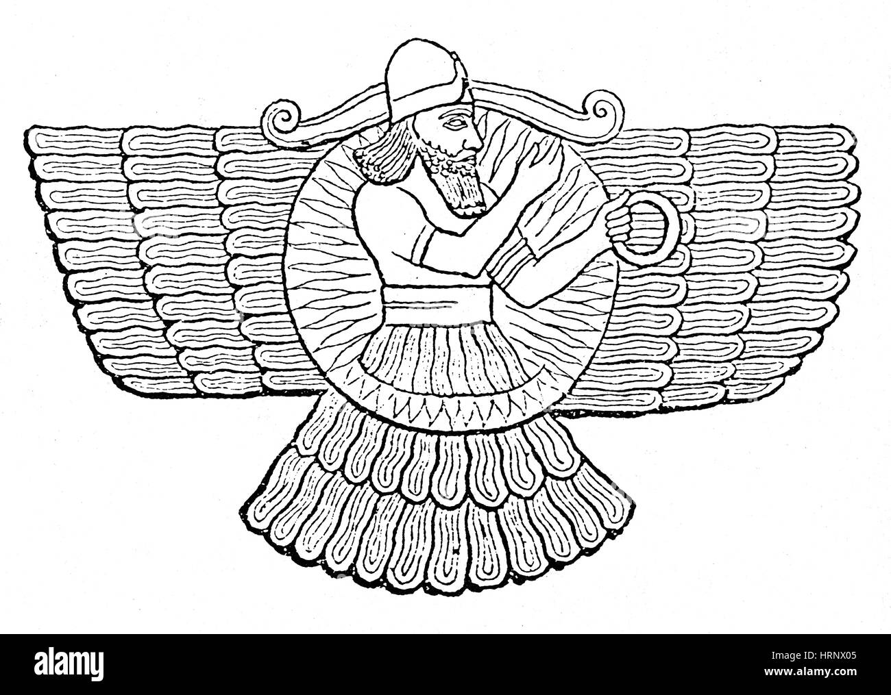 Ashur, Assyrian God - Stock Image