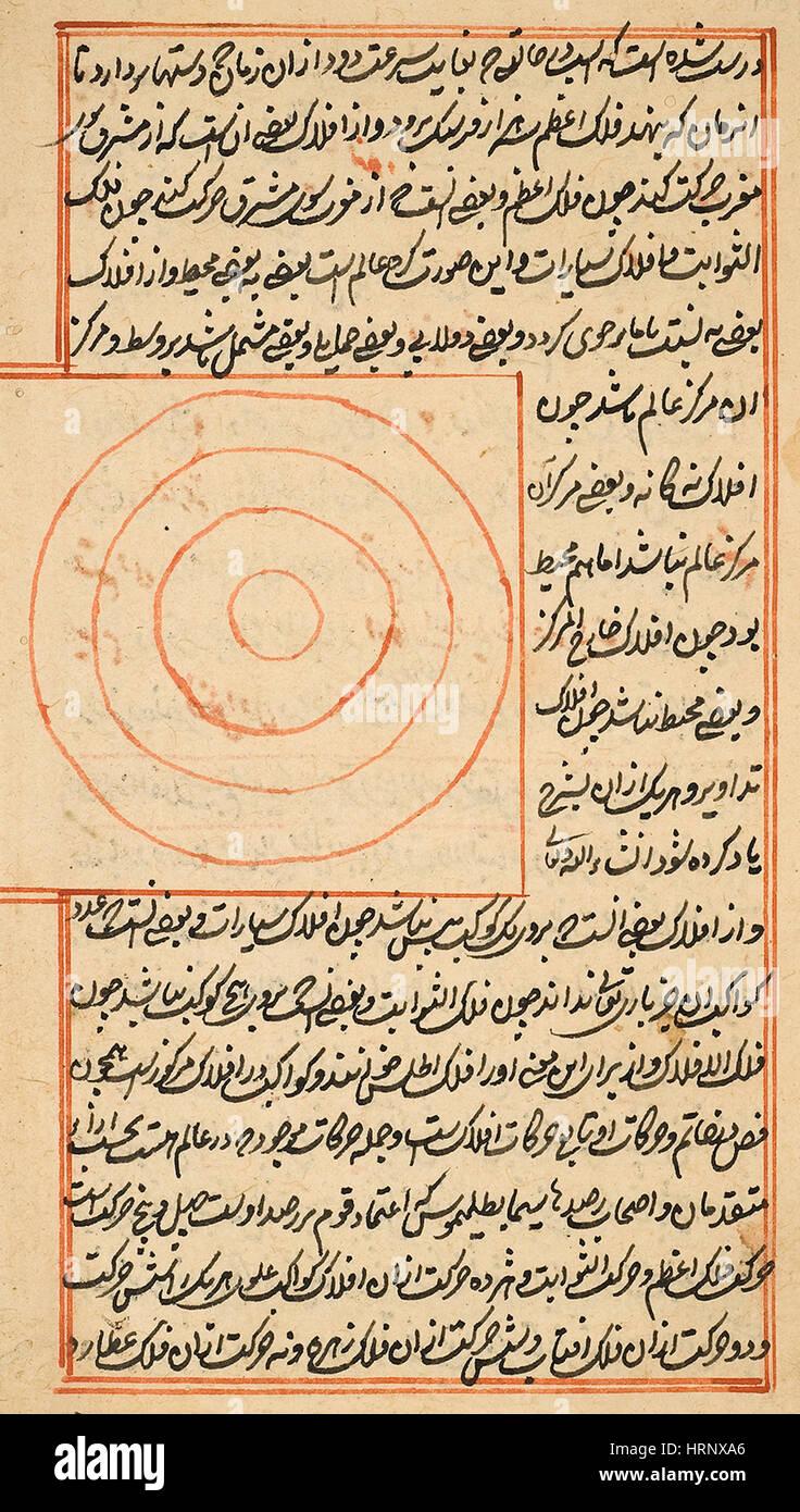 Islamic Map of the Geocentric Universe Stock Photo
