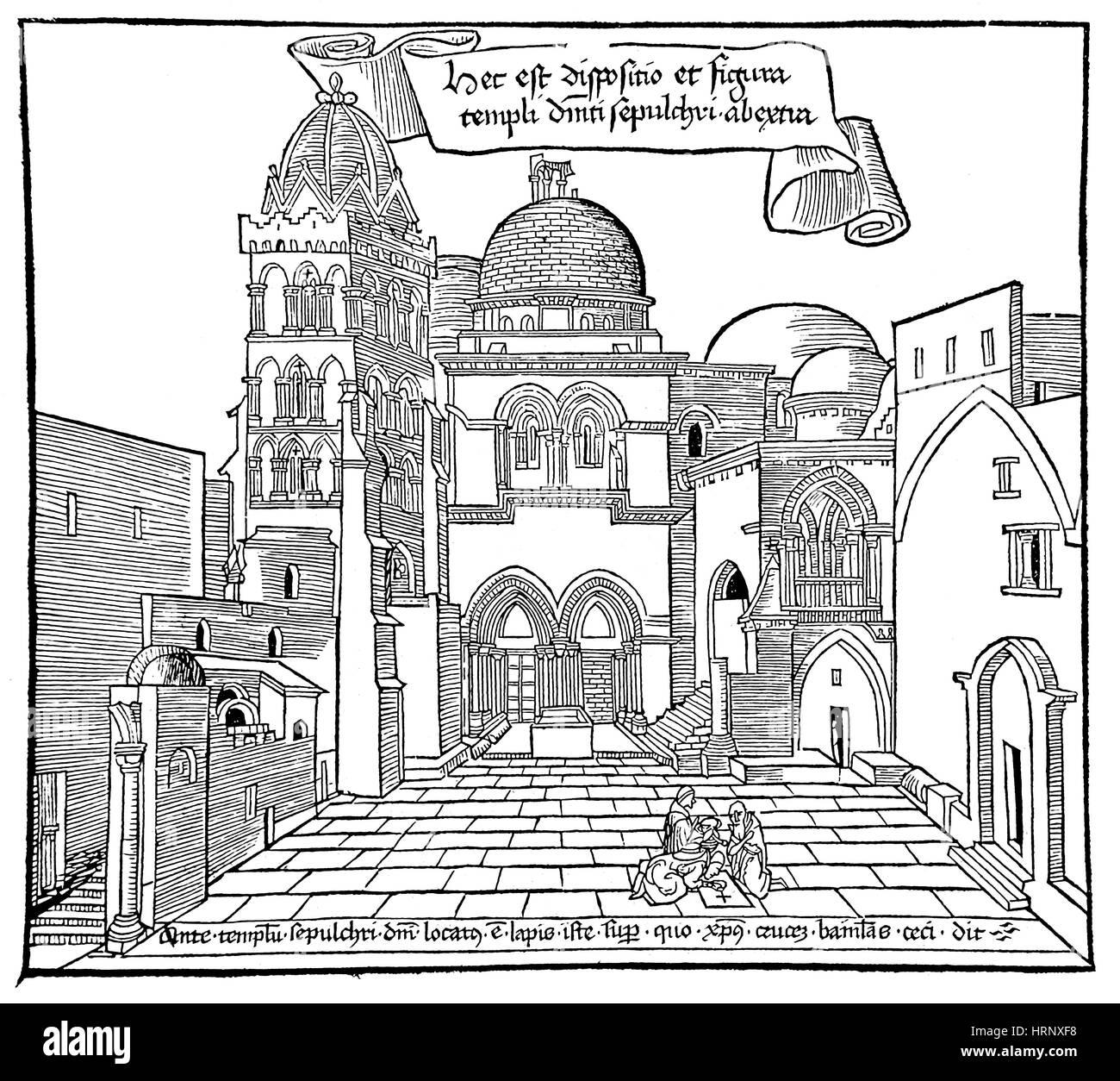 Sanctae Pereginationes, Church of the Holy Sepulchre, 1486 - Stock Image