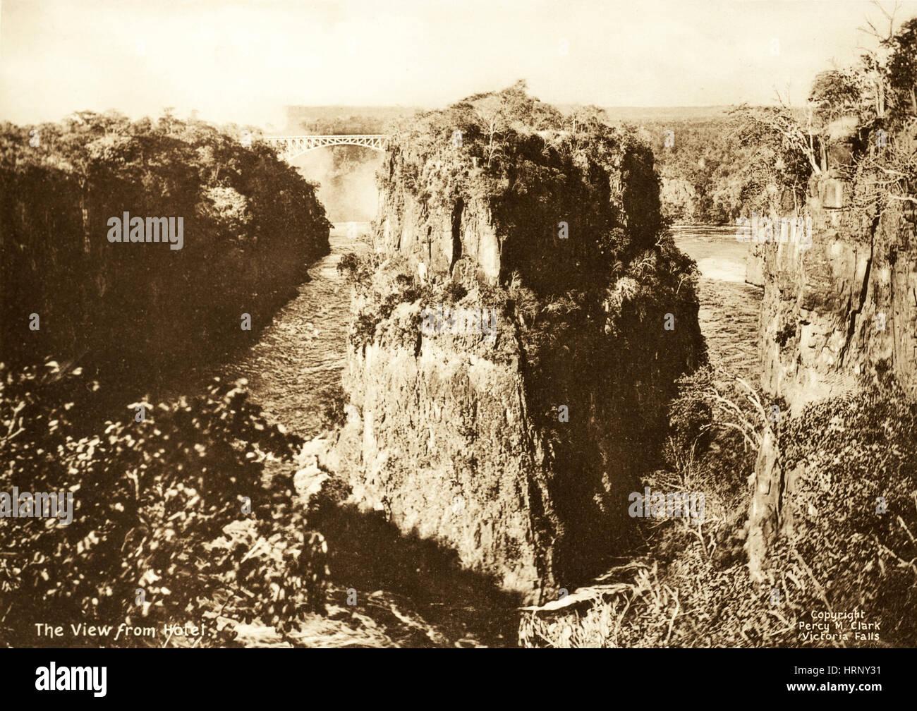 Victoria Falls, 1906 - Stock Image