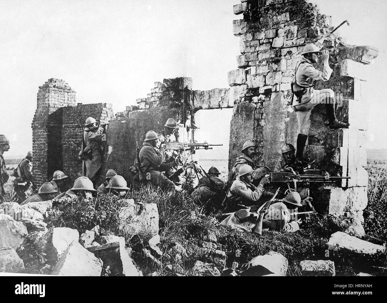 WWI, Second Battle of the Marne, 1918 - Stock Image