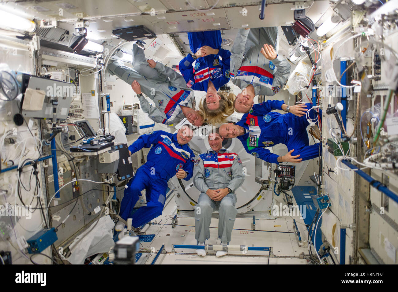 ISS Expedition 37 Crew Portrait - Stock Image