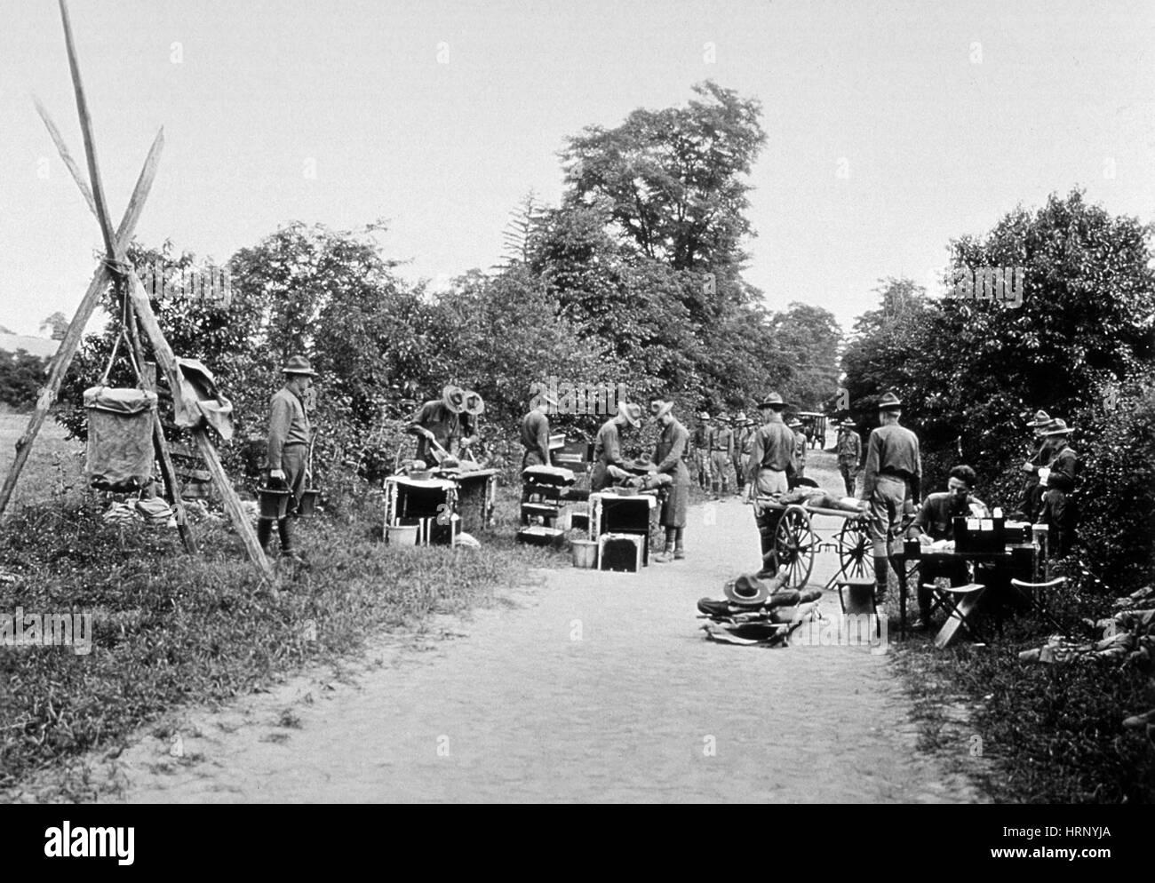 WWI, Battalion Aid Station - Stock Image
