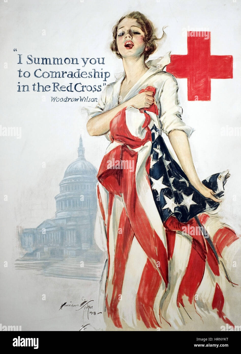 WWI, 'Comradeship in the Red Cross', 1918 - Stock Image