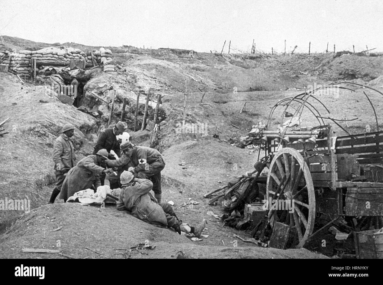 WWI, American Red Cross in the Trenches - Stock Image