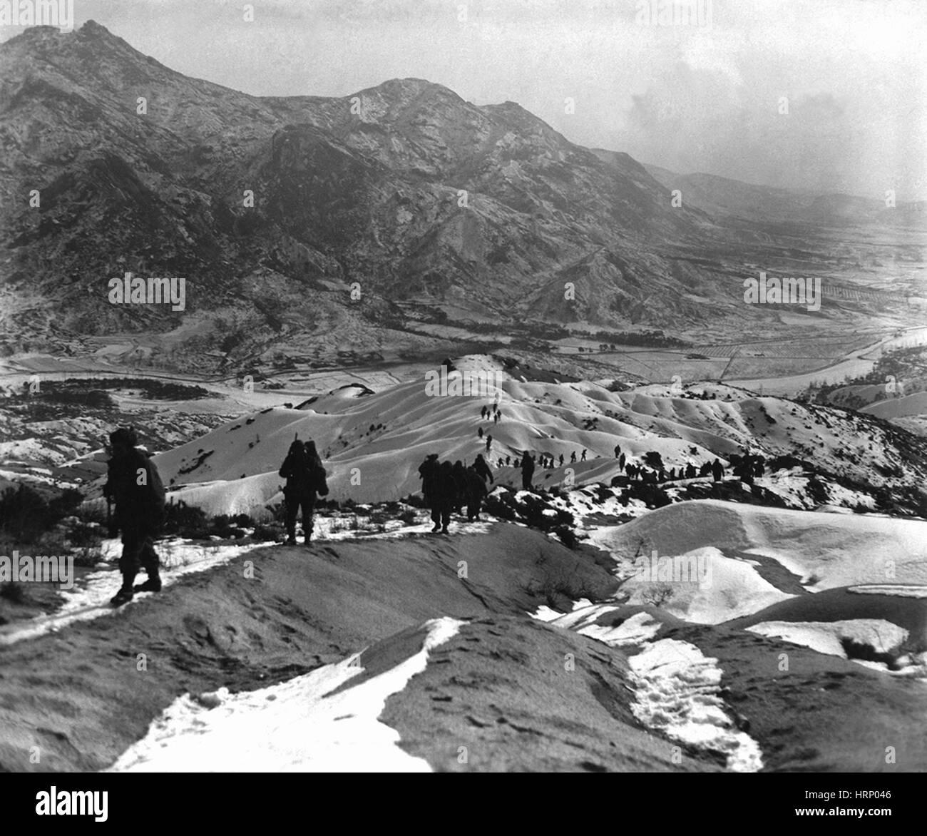 Korean War, Enemy Reconnaissance, 1951 - Stock Image