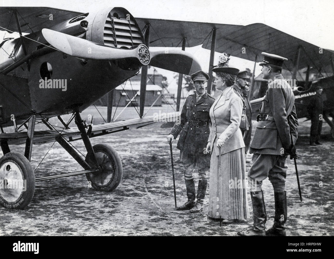 WWI, Air Marshal Trenchard and Queen Mary - Stock Image