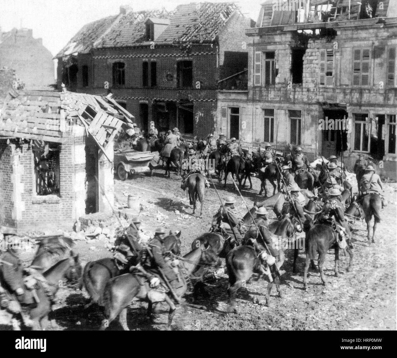 WWI, British Cavalry Regiment, 1914 - Stock Image