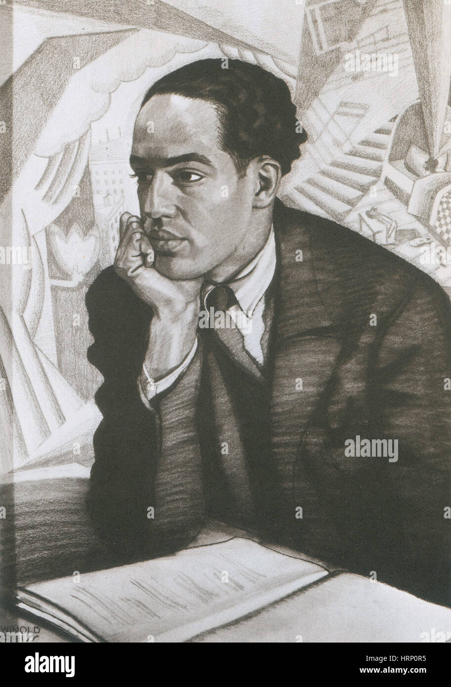 Langston Hughes, American Poet and Activist - Stock Image