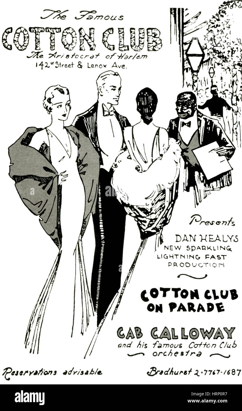 Cotton Club, The Aristocrat of Harlem - Stock Image