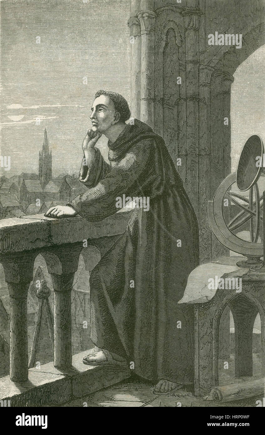 Roger Bacon, English Philosopher - Stock Image