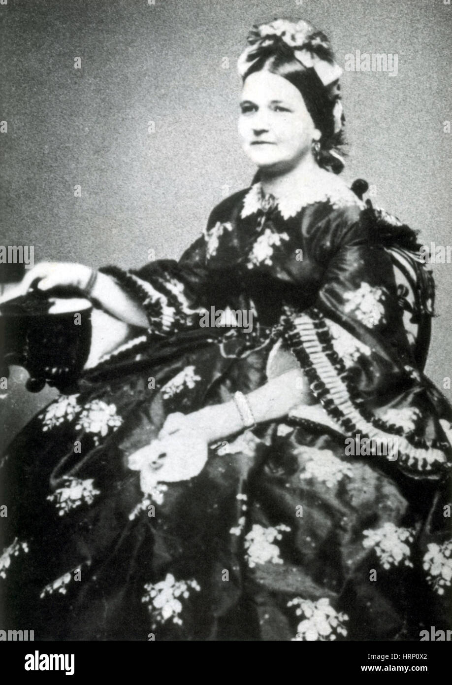 Mary Todd Lincoln First Lady Stock Photo 135093338 Alamy