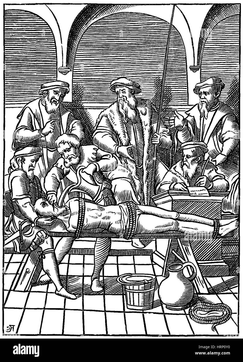 Medieval Inquisition, Water Torture - Stock Image