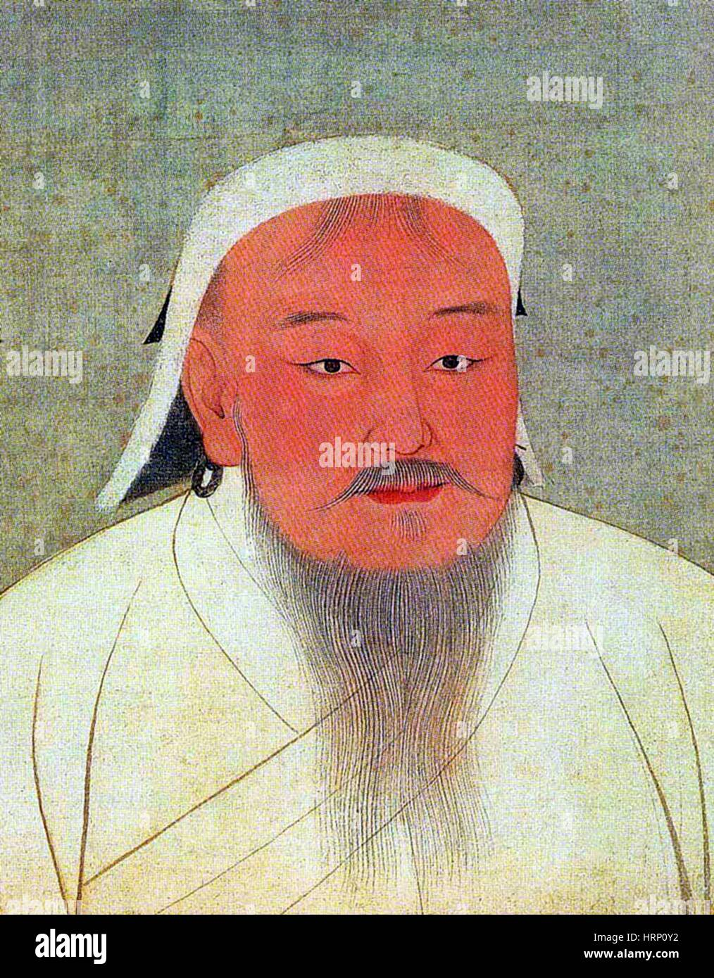 Genghis Khan, Supreme Emperor of the Mongols - Stock Image