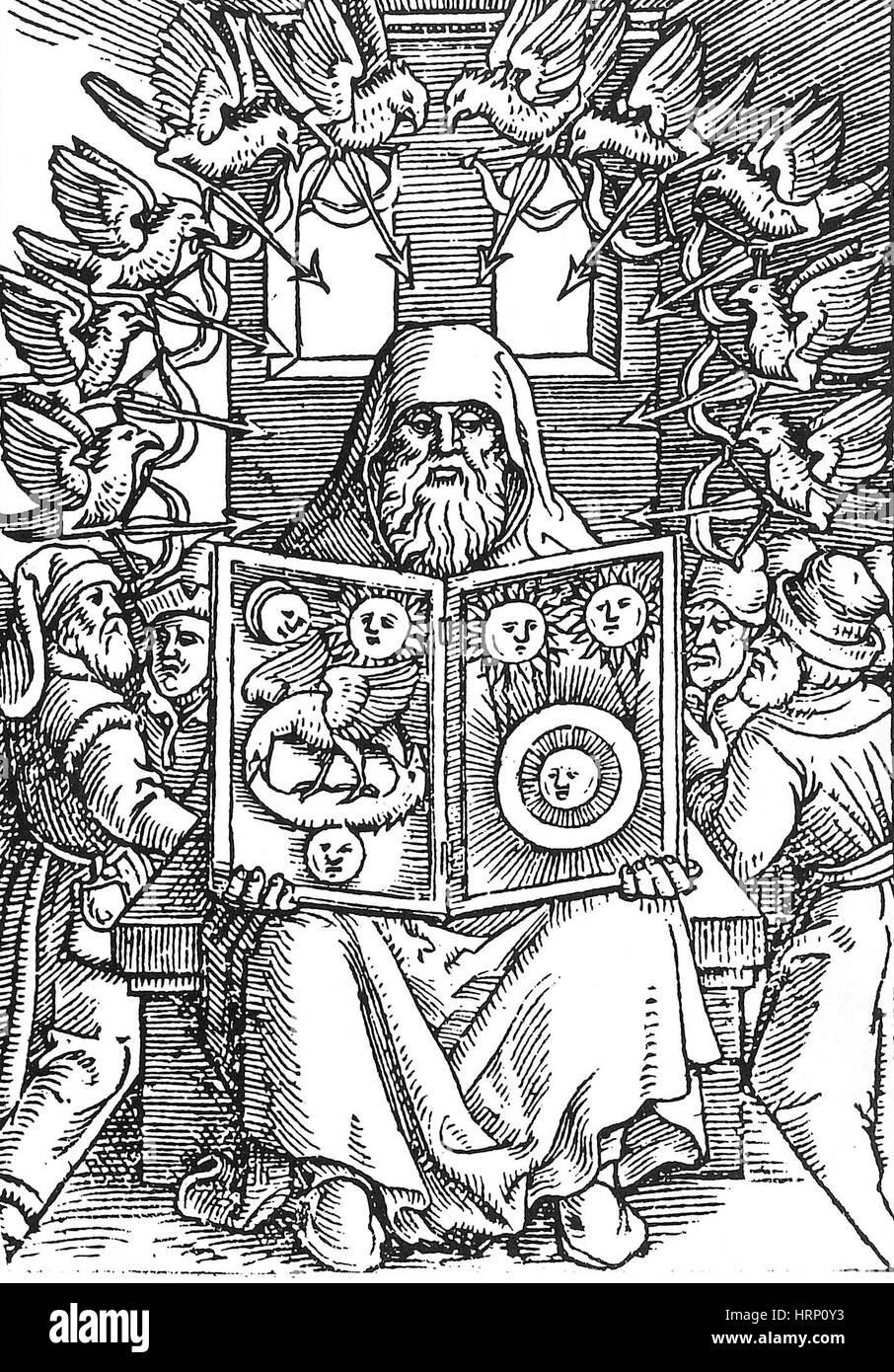 Hermes Trismegistus, Creator of Hermeticism - Stock Image