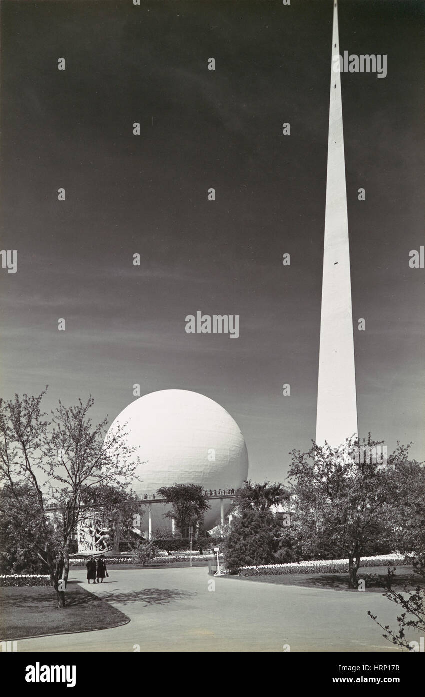 Theme Center, 1939 New York World's Fair - Stock Image