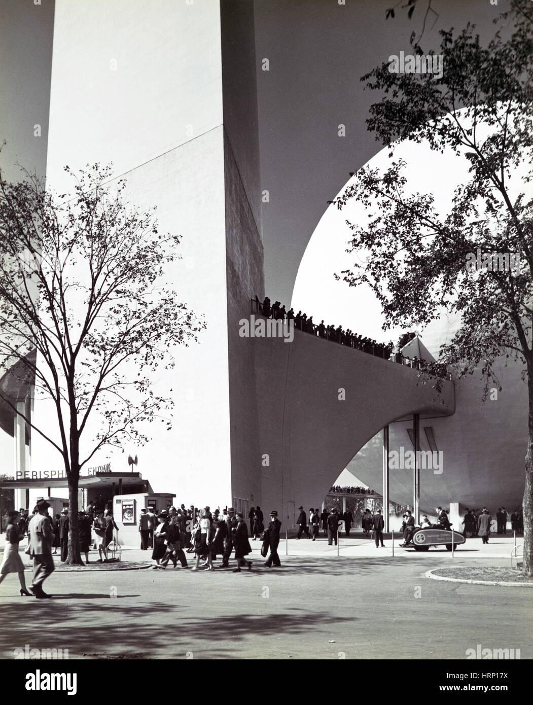 Perisphere Entrance, 1939 New York World's Fair - Stock Image