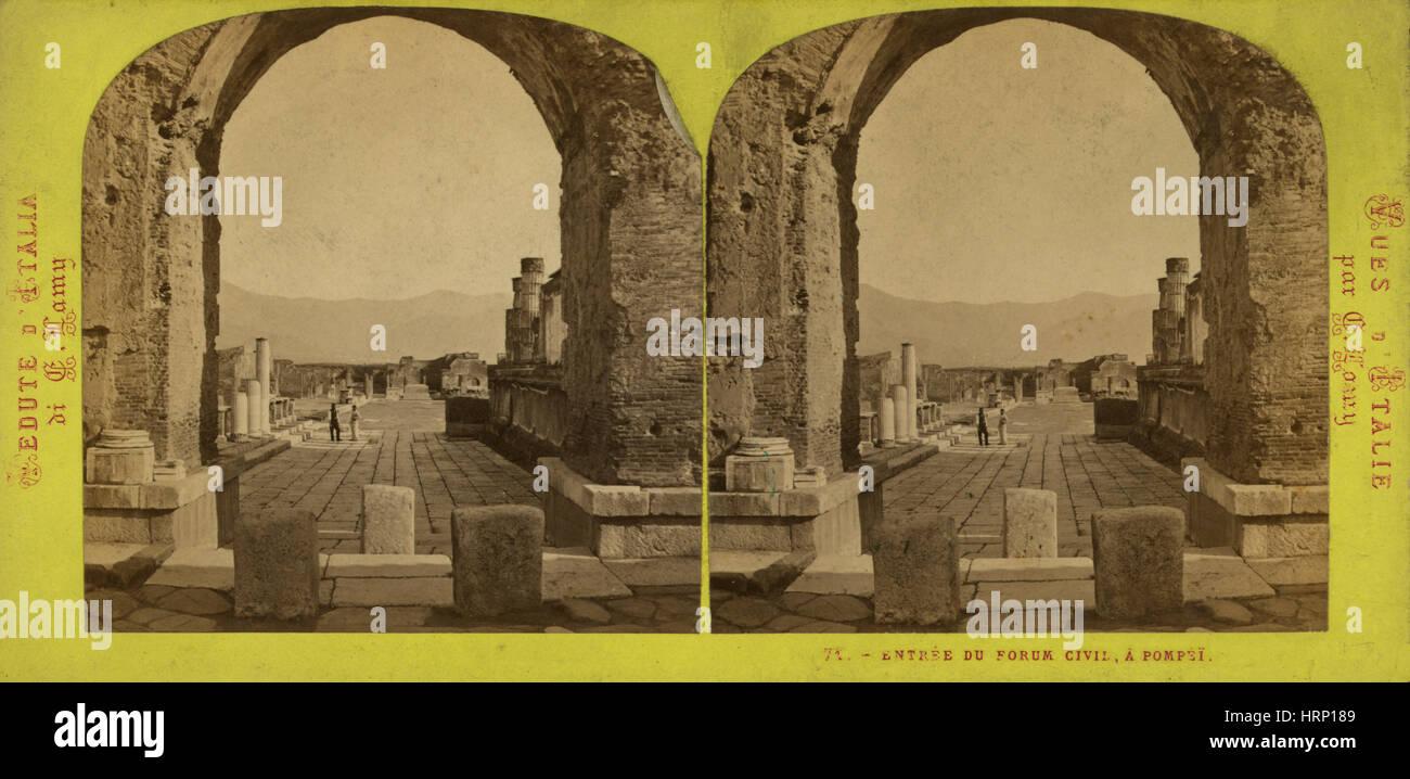 Pompeii, 1860's - Stock Image
