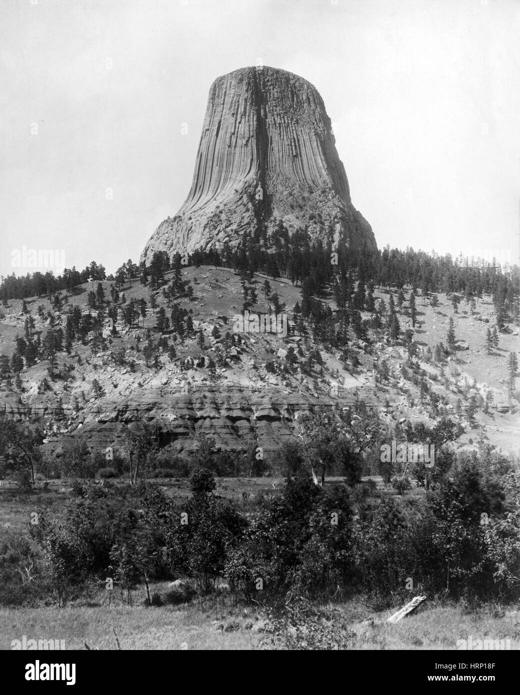 Devils Tower, 1892 - Stock Image