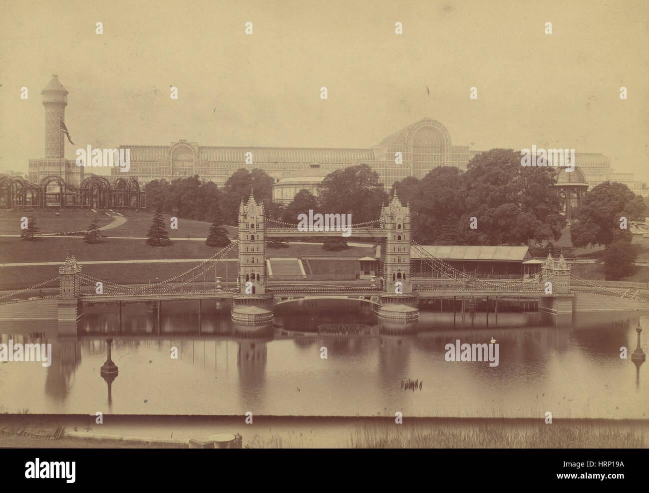 Crystal Palace at Sydenham, 1854 - Stock Image