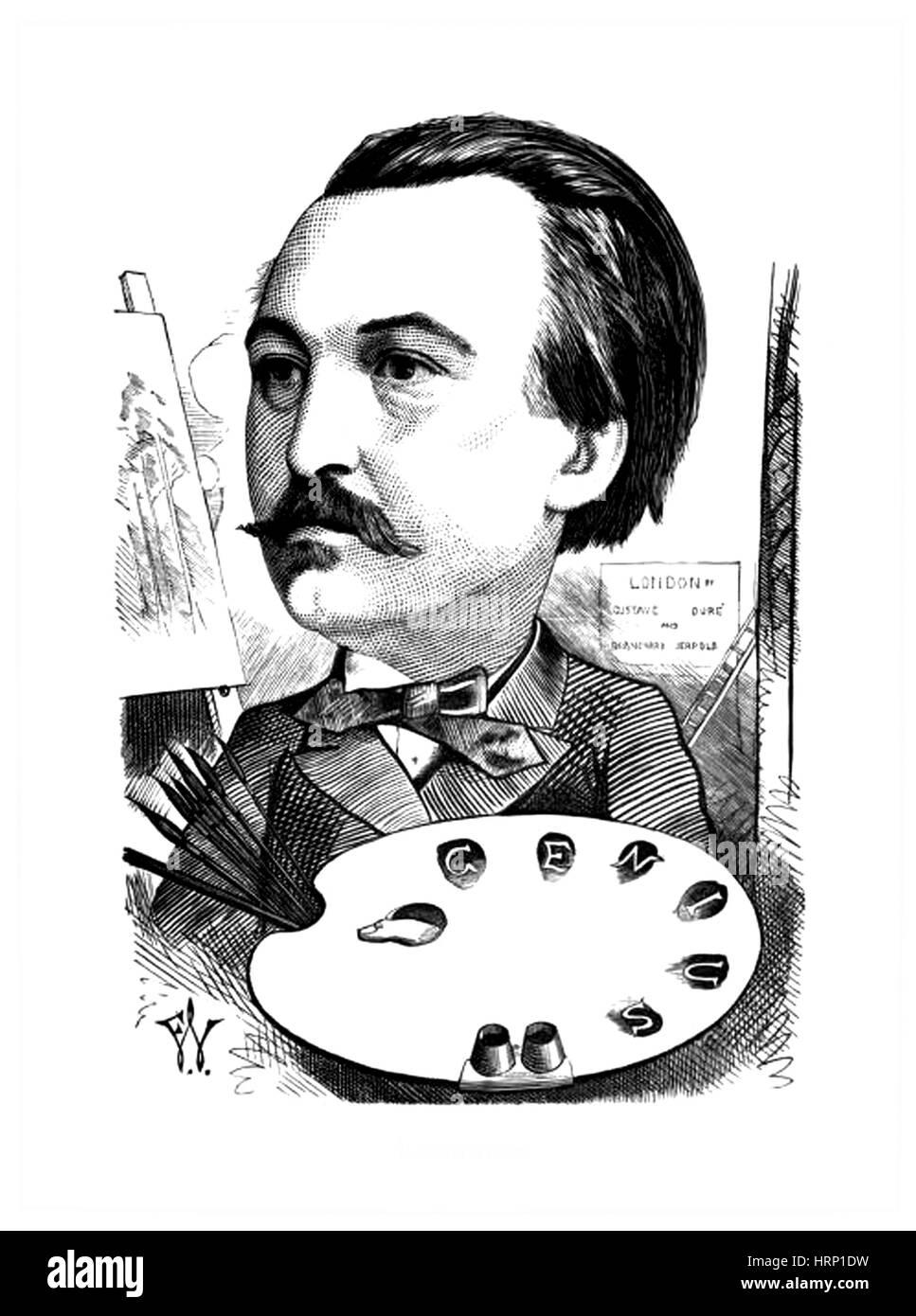 Gustave Dor̩, French Artist - Stock Image
