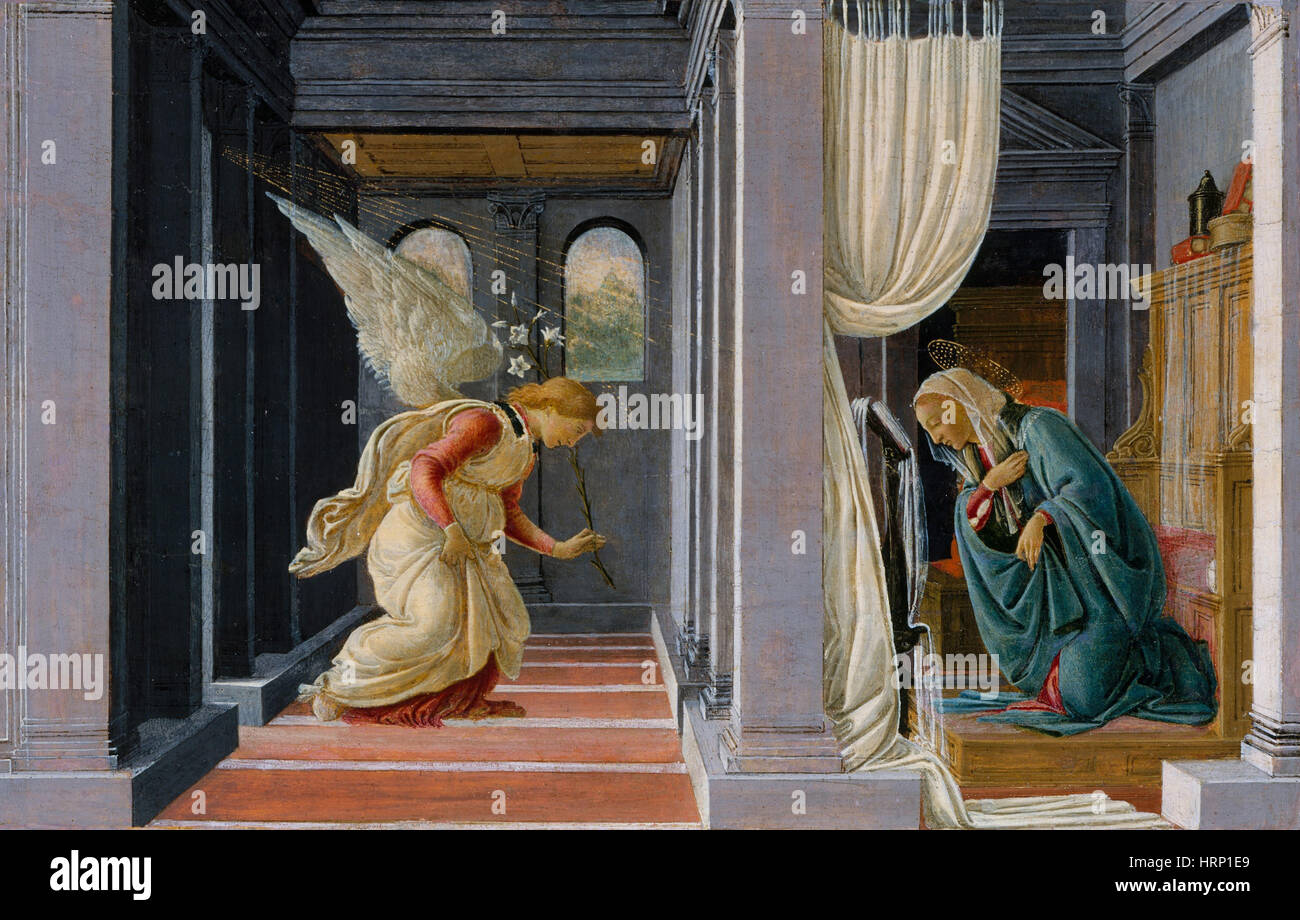 The Annunciation by Botticelli - Stock Image