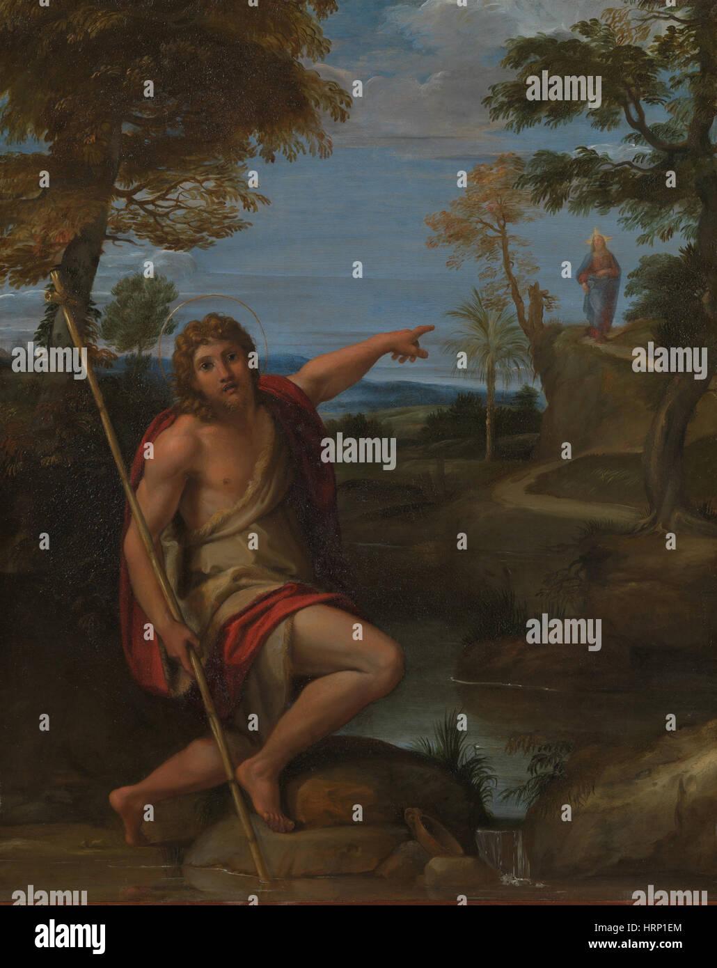 John the Baptist Bears Witness by Carracci - Stock Image