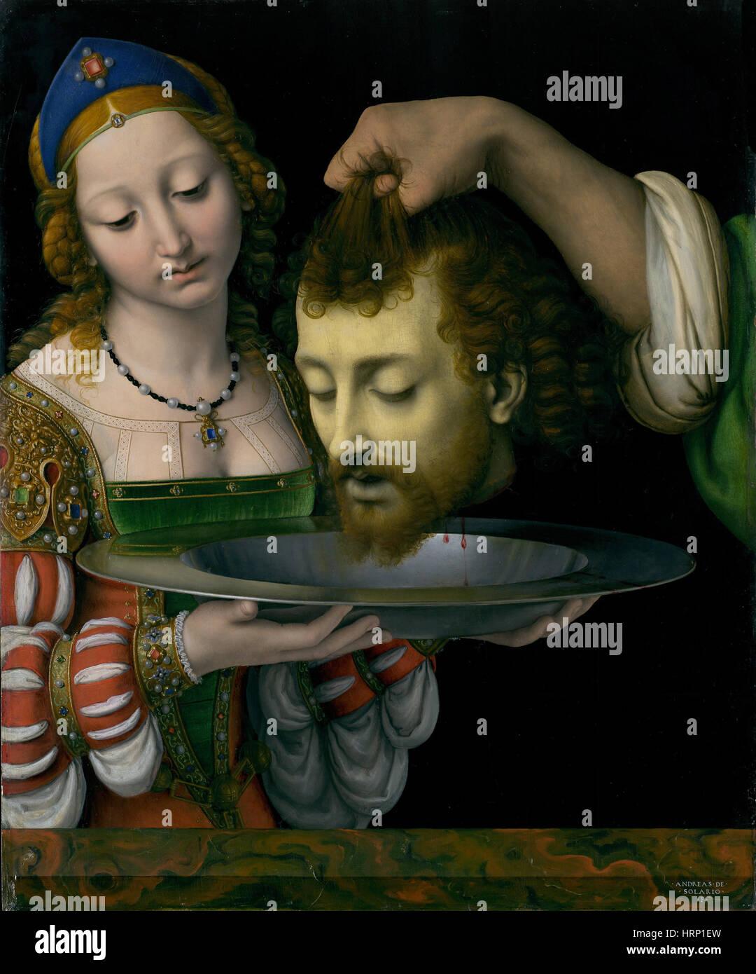 Salome with the Head of Saint John the Baptist - Stock Image