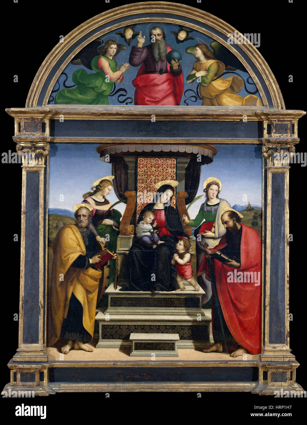Madonna and Child with Saints, Raphael - Stock Image