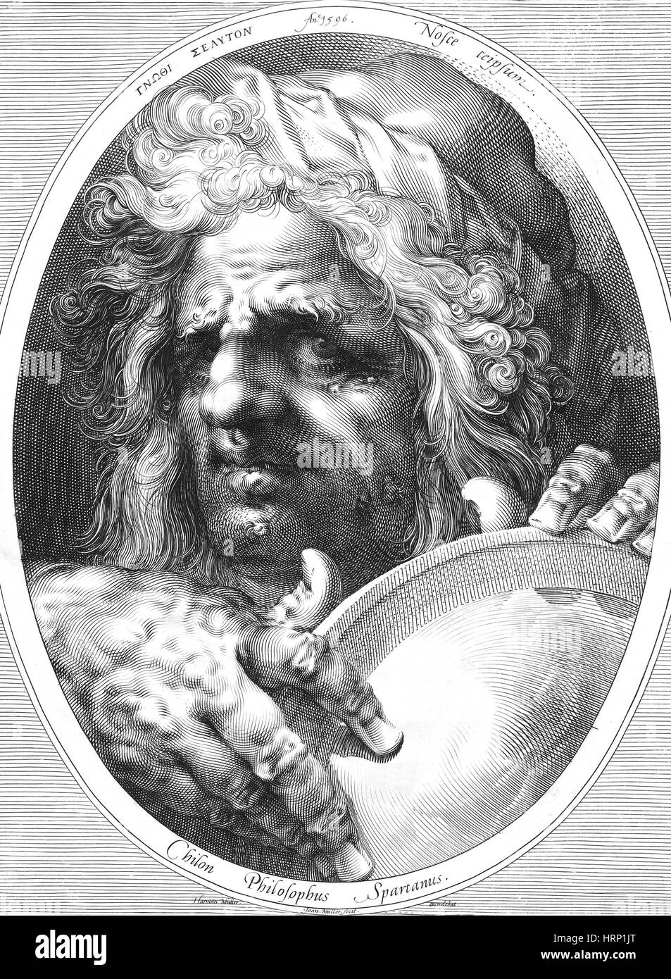 Chilon of Sparta, Sage of Greece Stock Photo