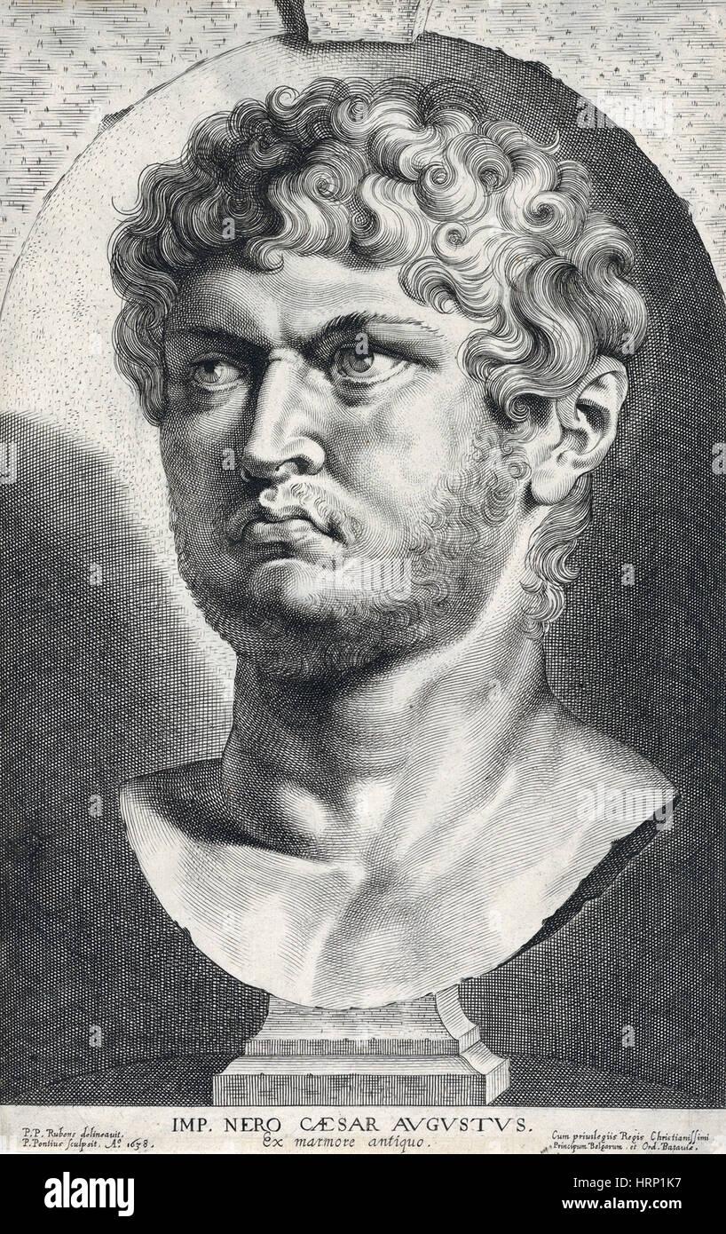 Nero, Roman Emperor - Stock Image