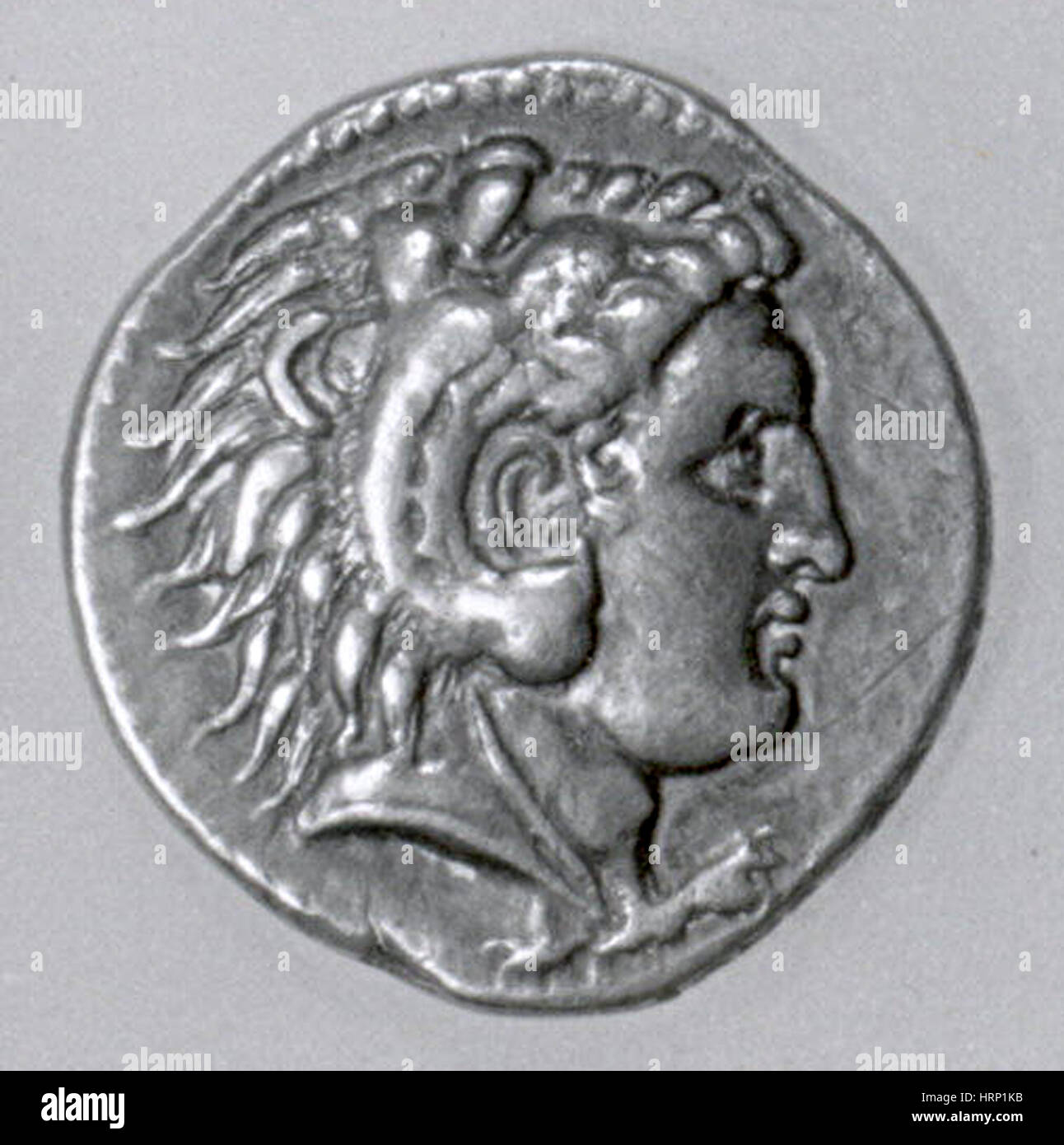 Silver Tetradrachm of Alexander the Great - Stock Image