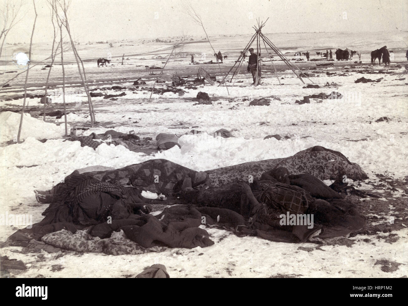 Spotted Elk's Camp, Wounded Knee Massacre, 1891 - Stock Image