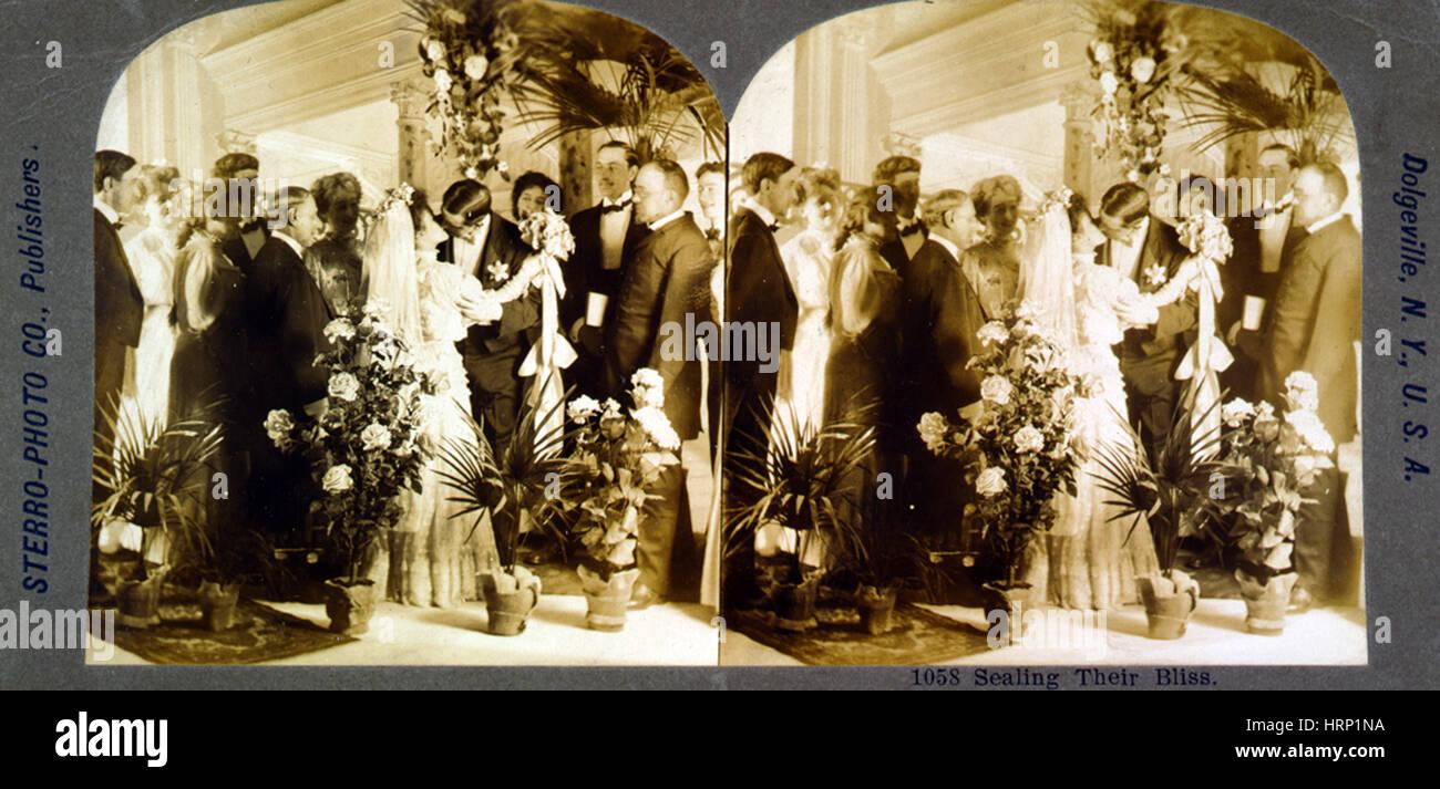 Sealing Their Bliss, 1907 Stock Photo