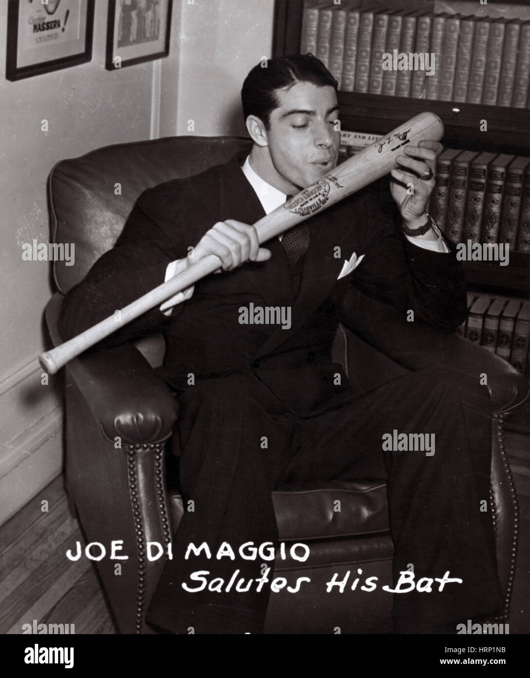 Joe DiMaggio, American Baseball Legend - Stock Image