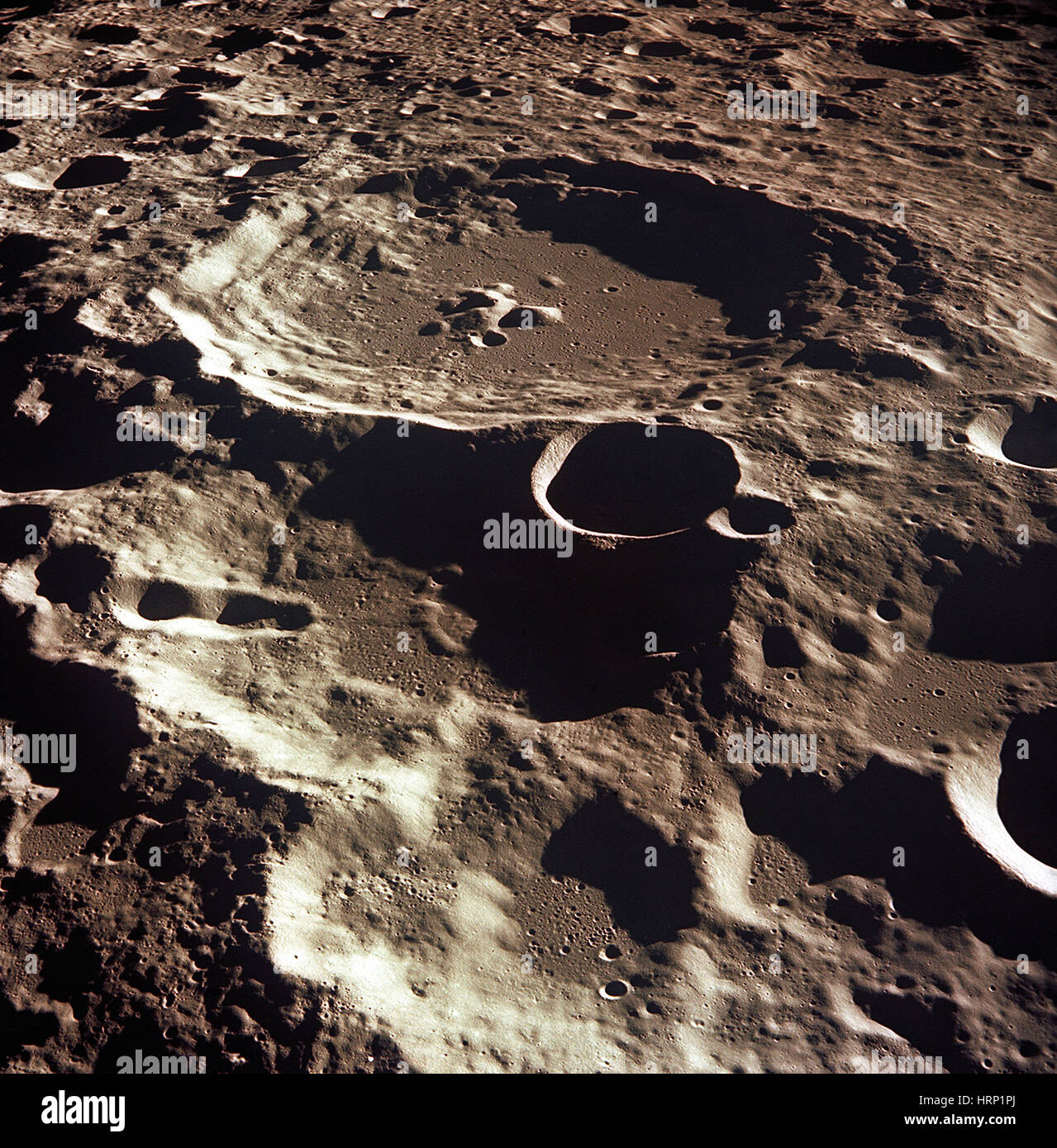 Daedalus Crater, The Moon, Apollo 11 Mission - Stock Image