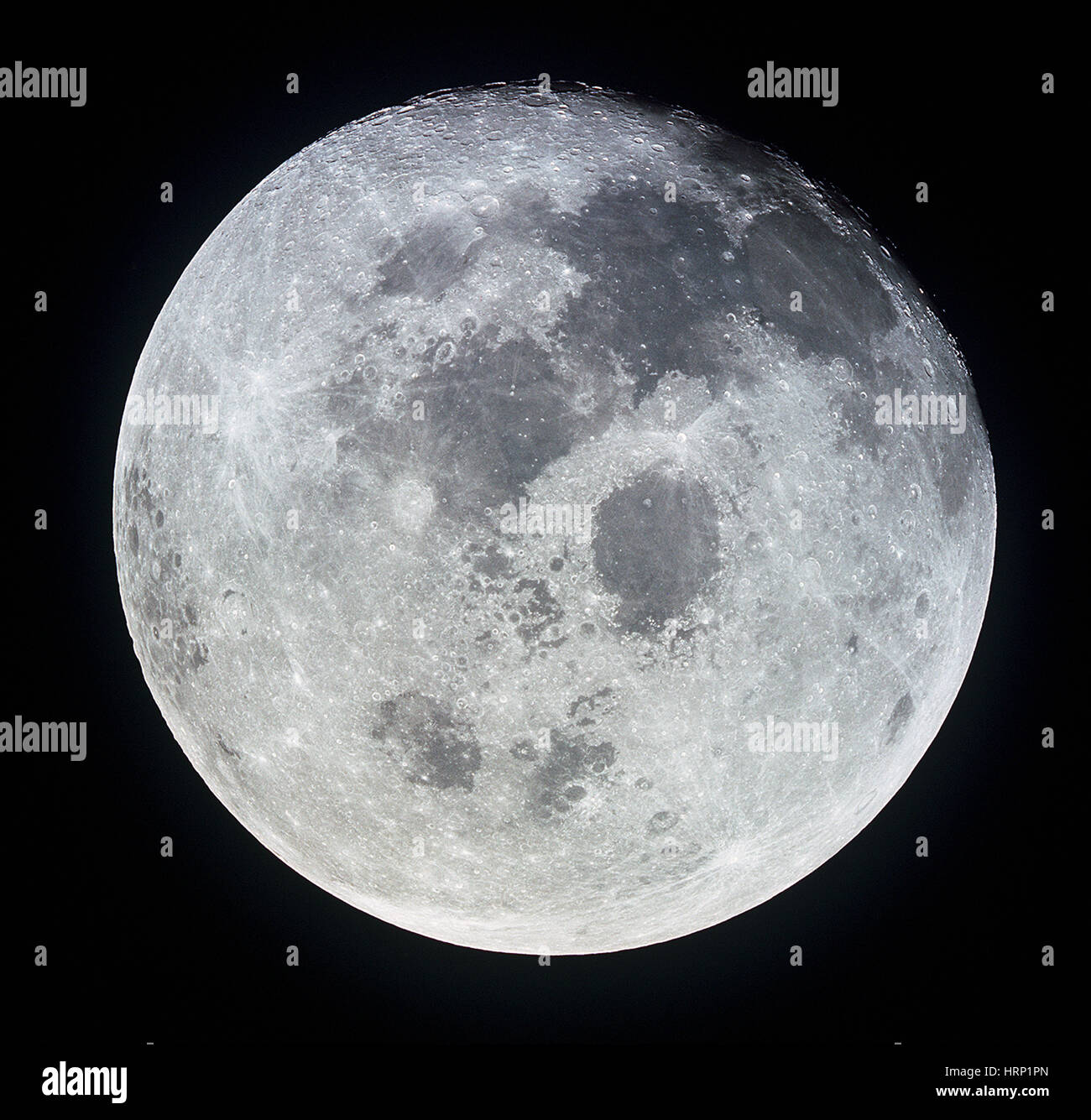 Apollo 11, Full Moon, 1969 - Stock Image
