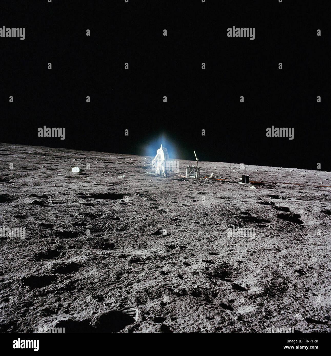Alan Bean on the Moon, Apollo 12 - Stock Image