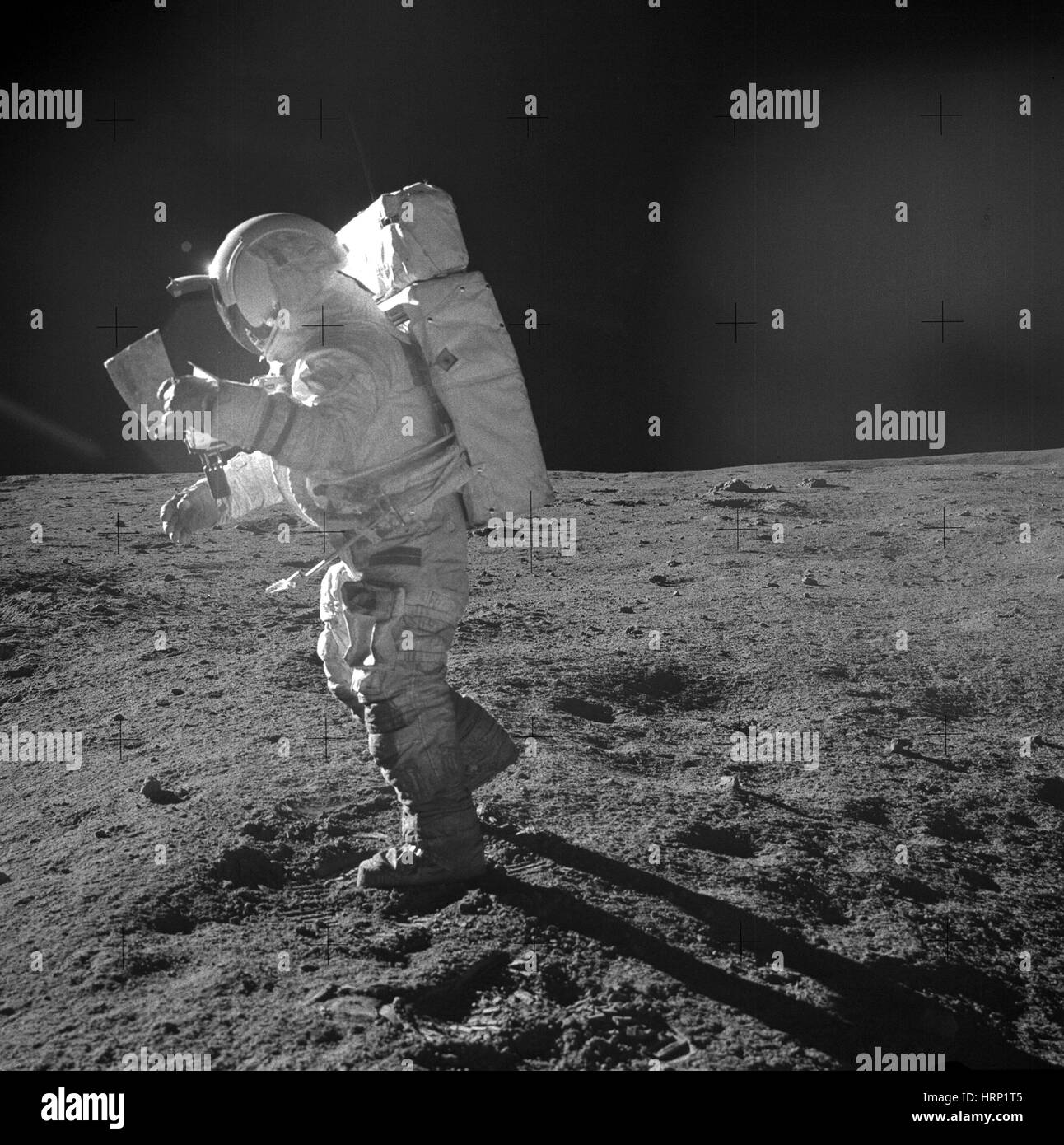 Edgar Mitchell on the Moon, Apollo 14 - Stock Image