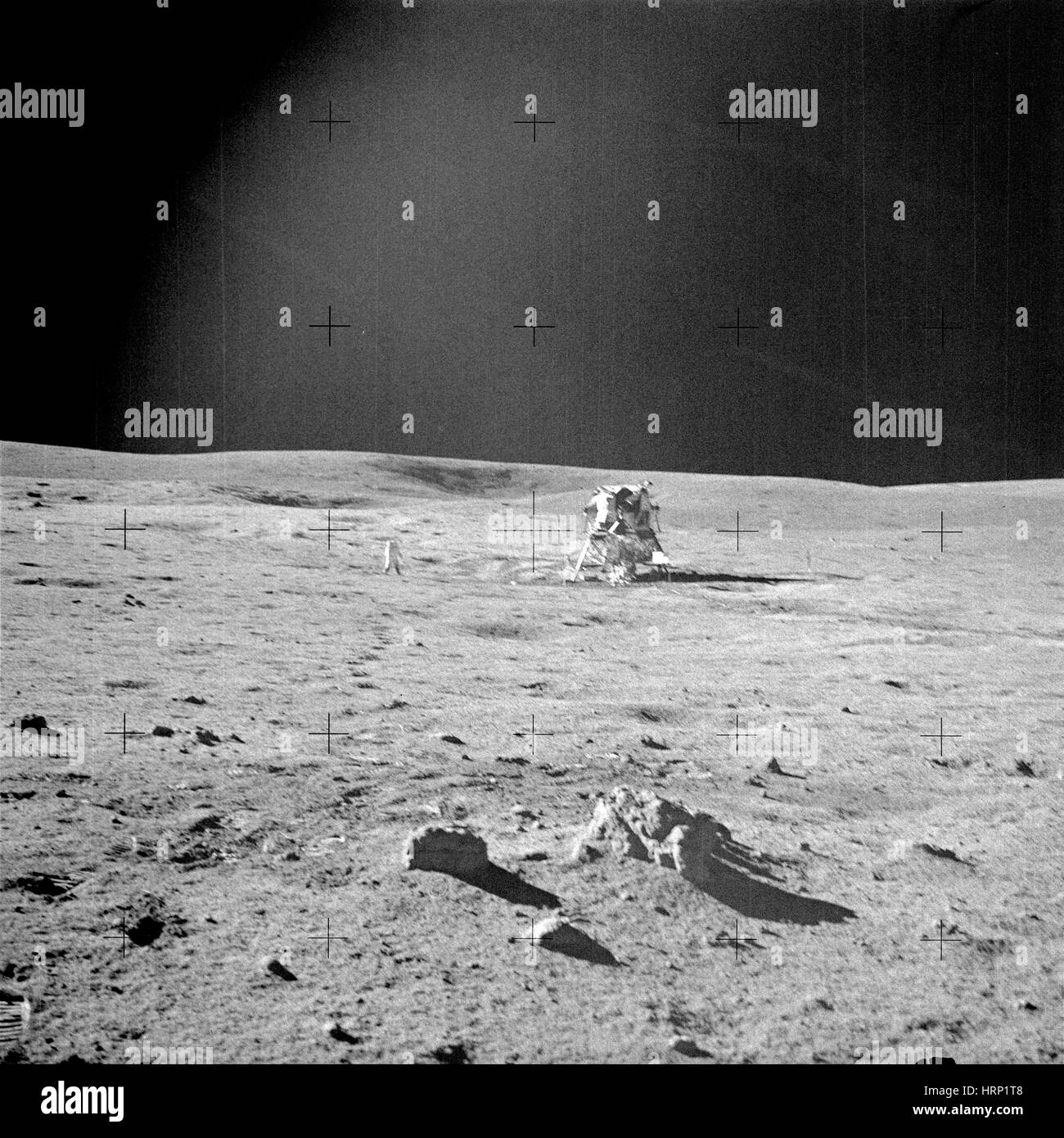 Alan Shepard And Apollo 14 Lunar Module - Stock Image