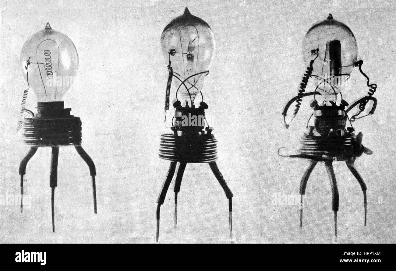 John Ambrose Fleming, Prototype Valves, 1904 - Stock Image