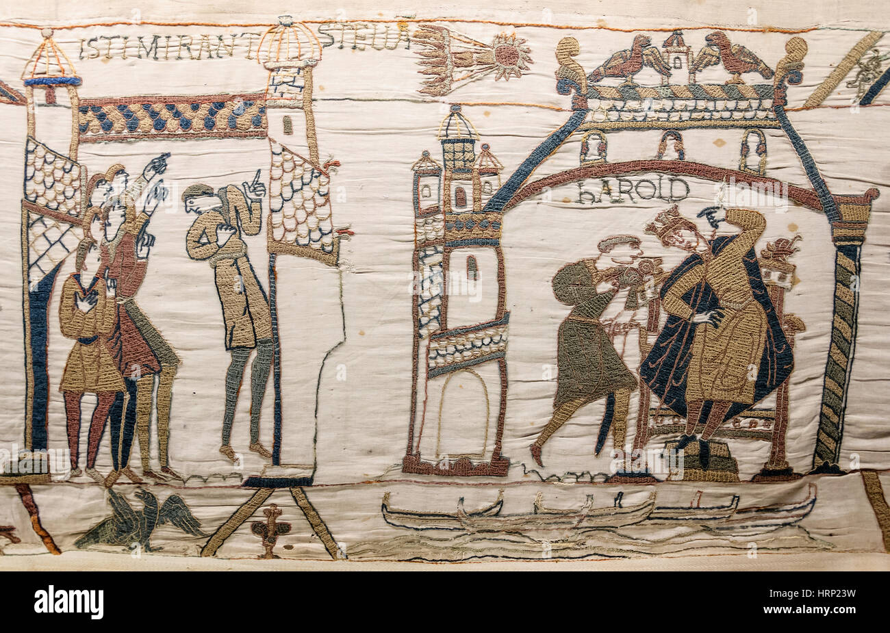 Halley's Comet of 1066, Bayeux Tapestry - Stock Image