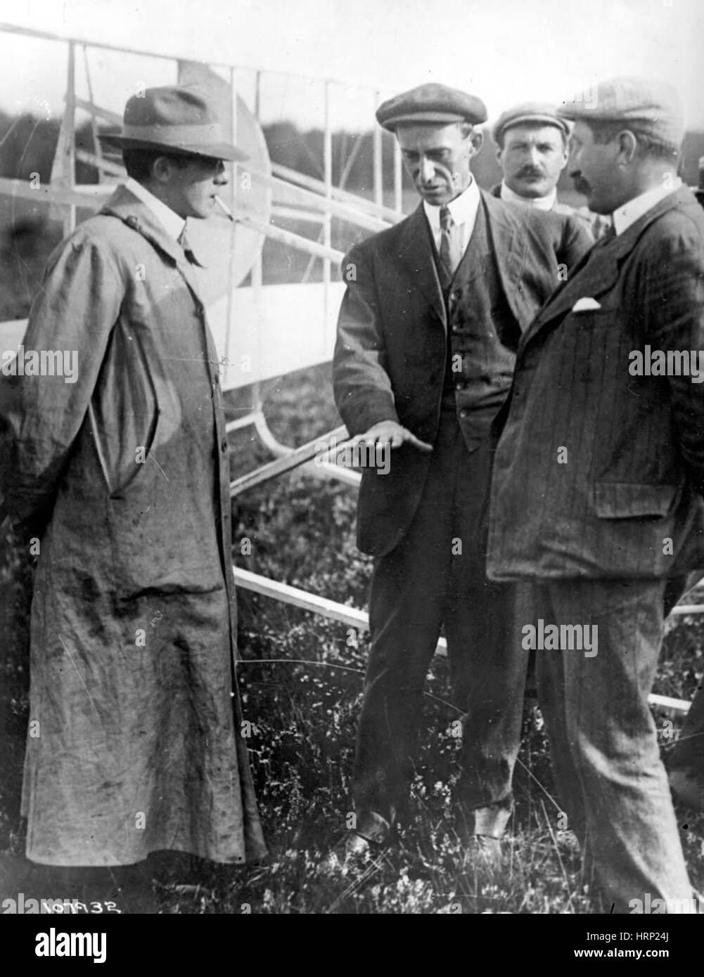 Wilbur Wright, 1908 - Stock Image