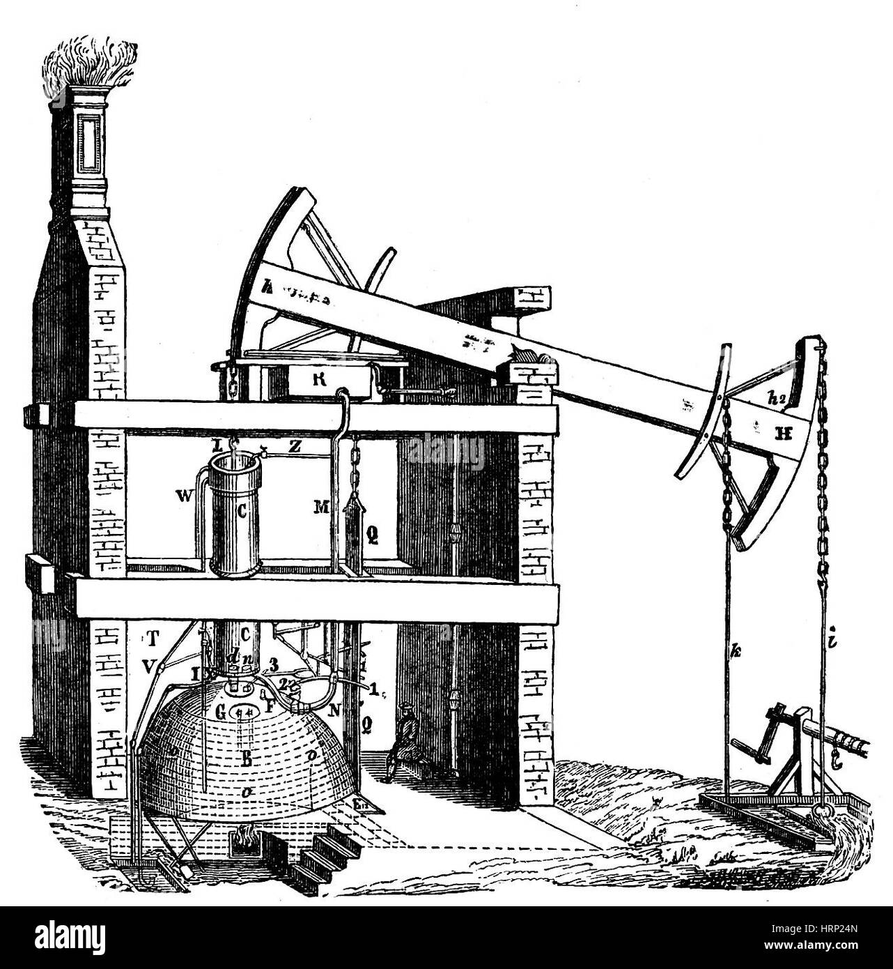 Newcomen Atmospherical Steam Engine, 1712